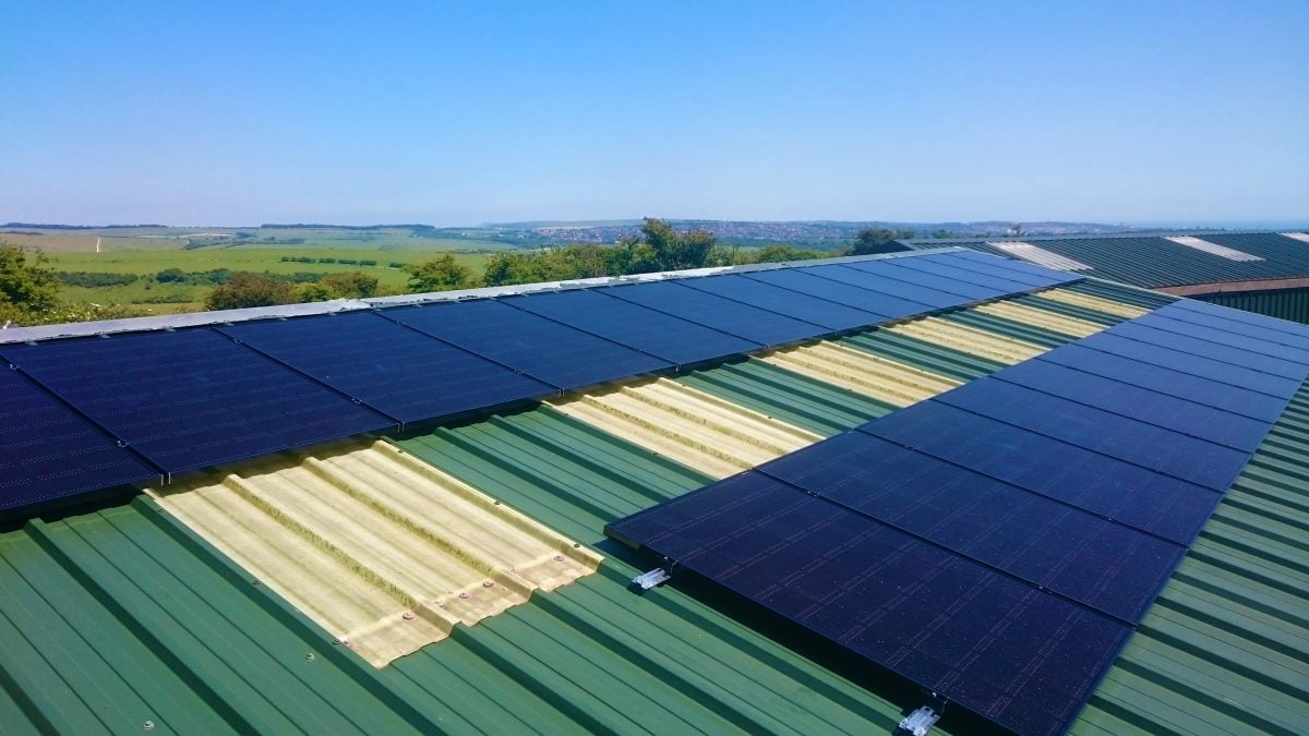 Rooftop solar array installed at Dyke Golf club by BHESCo in Summer 2017