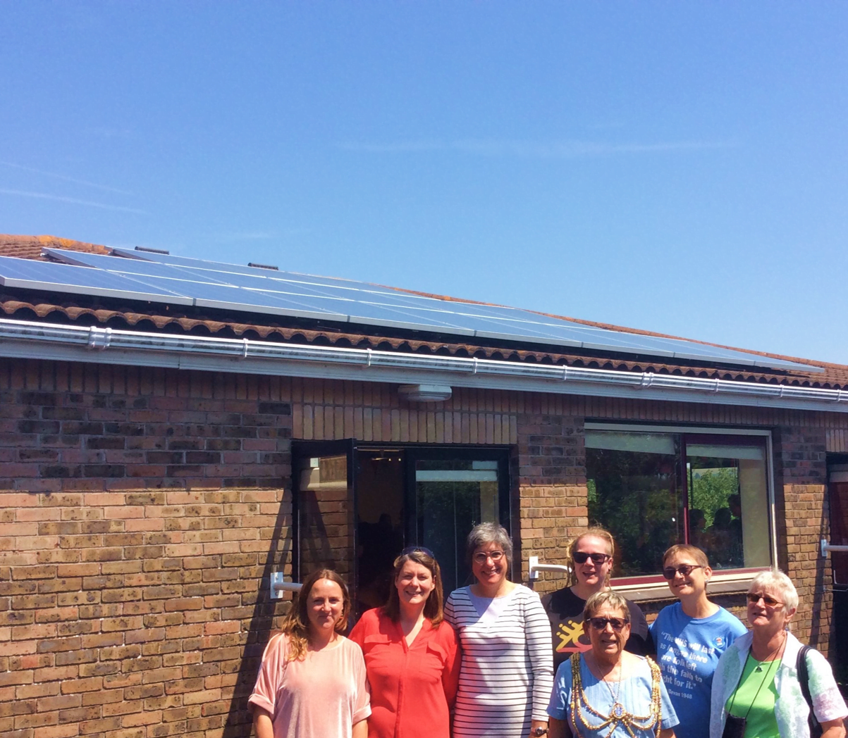 Investing In Community Energy Banner Image - Celebrating New Solar Panels at Community Centre